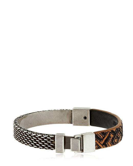Northskull | Brown Woto Embroidered Tag Bracelet | Lyst