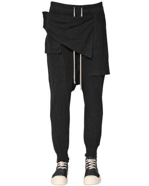 Rick Owens   Black Drkshdw Paneled Cotton Gauze Pants for Men   Lyst