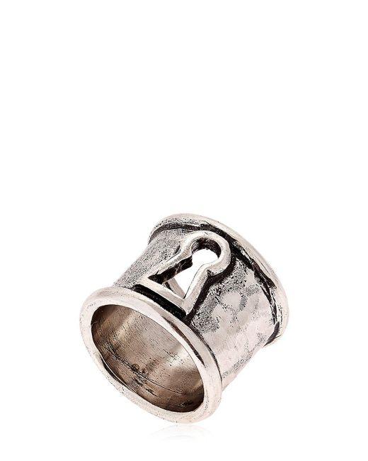 Alcozer & J   Metallic Keyhole Ring   Lyst