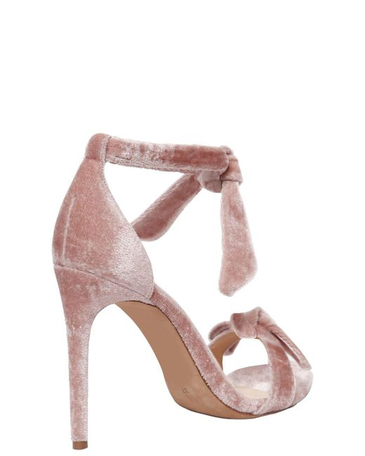 ALEXANDRE BIRMAN 100MM CLARITA KNOTS VELVET SANDALS Free Shipping Comfortable Buy Cheap Hot Sale Knock Off Good Selling Cheap Online Sale Cheapest Price FUwcsUolh