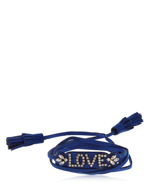 Shourouk - Blue Blabla Alcantara Bracelet - Lyst