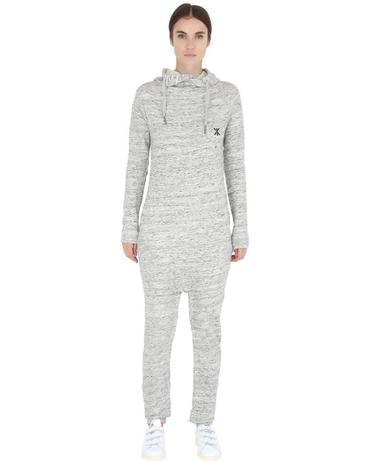 OnePiece | Gray Cotton French Terry Jumpsuit | Lyst