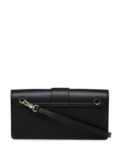 6bd0dcb13a ... Vivienne Westwood - Black Alex Leather Clutch W/ Buckle - Lyst ...
