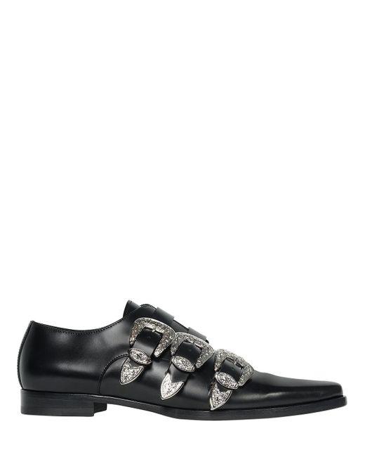 DSquared² - Black Zapatos Western De Piel 20mm for Men - Lyst