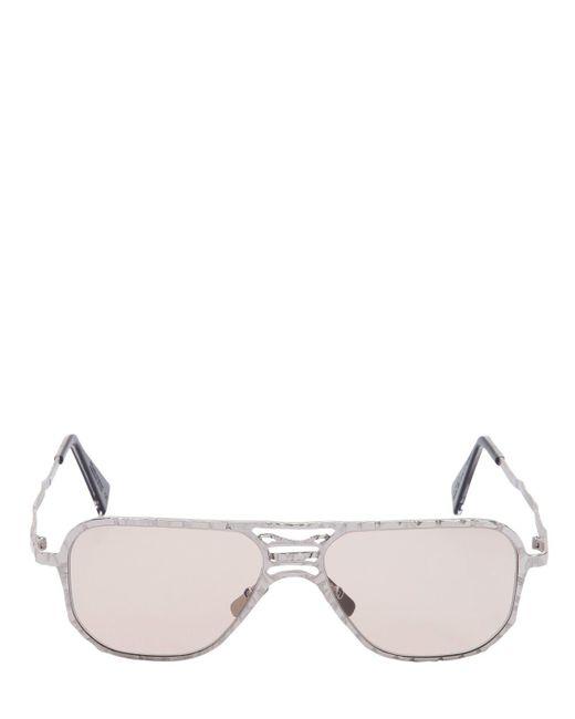 Kuboraum Berlin - Metallic Gafas De Sol Estilo Aviador De Metal Texturizado for Men - Lyst
