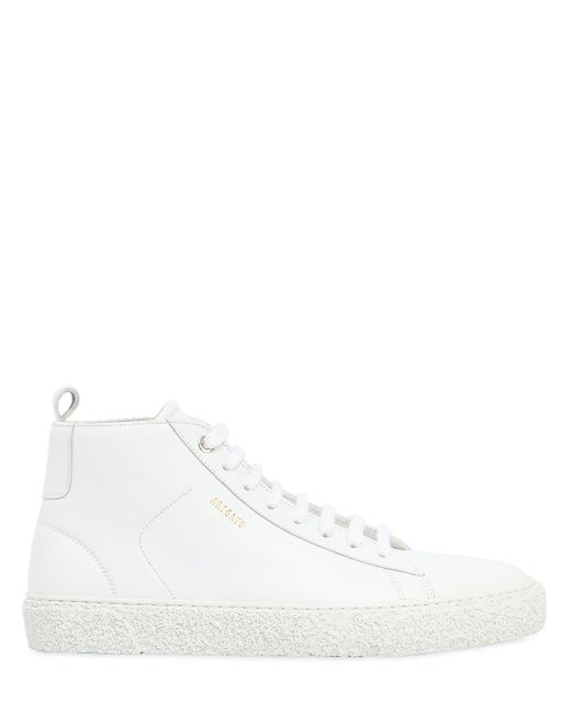 Axel Arigato - White High Top Leather Chukka Sneakers for Men - Lyst