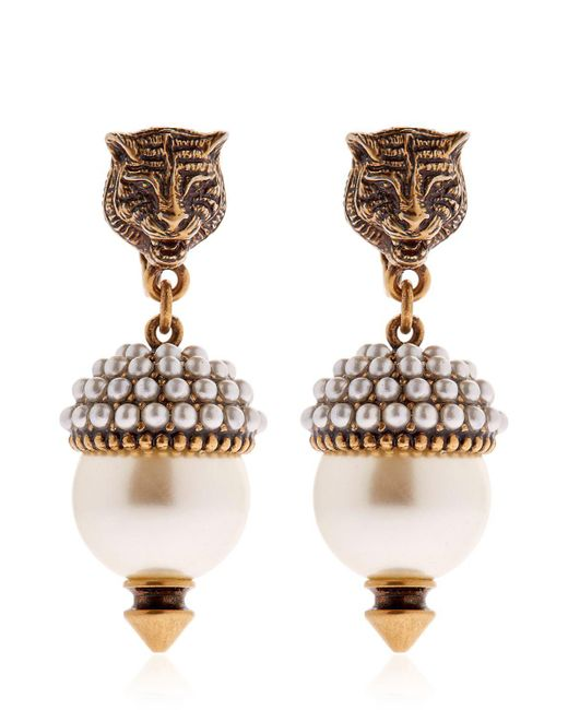 Gucci - Multicolor Imitation Pearl Clip-on Earrings - Lyst