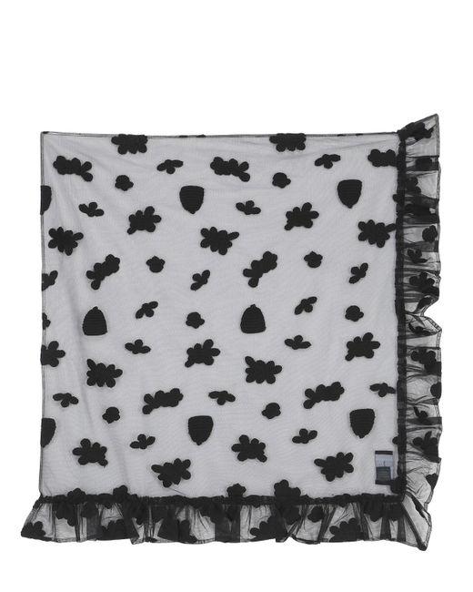 Simone Rocha | Black Embroidered Cotton Tulle Veil | Lyst