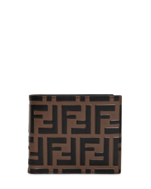 Fendi - Black Ff Embossed Leather Classic Wallet for Men - Lyst