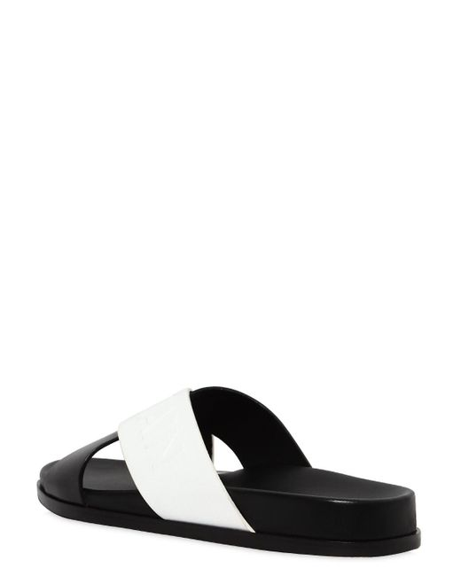Balmain 20MM CRISSCROSS LEATHER SANDALS QXfO0uMJe