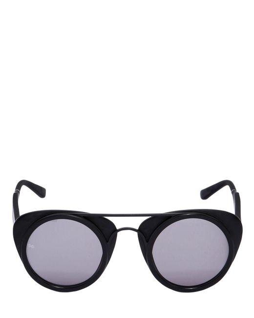Smoke X Mirrors - Black Dual Layered Round Sunglasses - Lyst