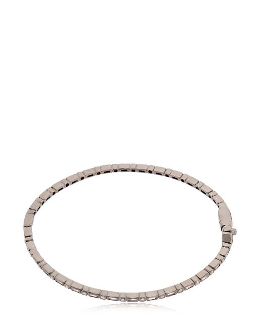 Colette | Entwined Diamond Black Gold Bracelet | Lyst