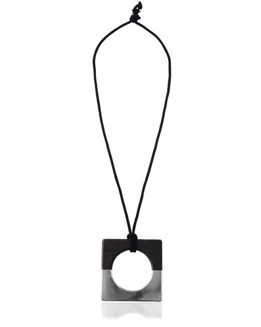 Nehera - Metallic Handmade Wood & Duralumin Necklace - Lyst