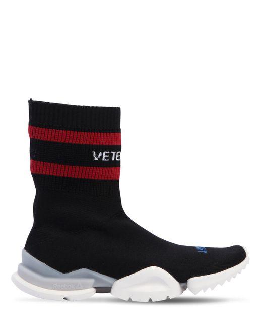 Vetements - Blue 30mm Reebok Sock Knit High Top Sneakers for Men - Lyst