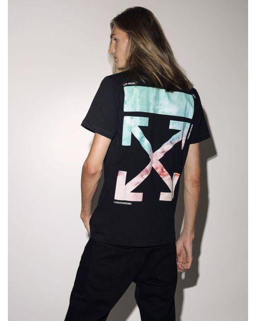Off-White c/o Virgil Abloh Black Lvr Exclusive Printed Cotton T-shirt for men