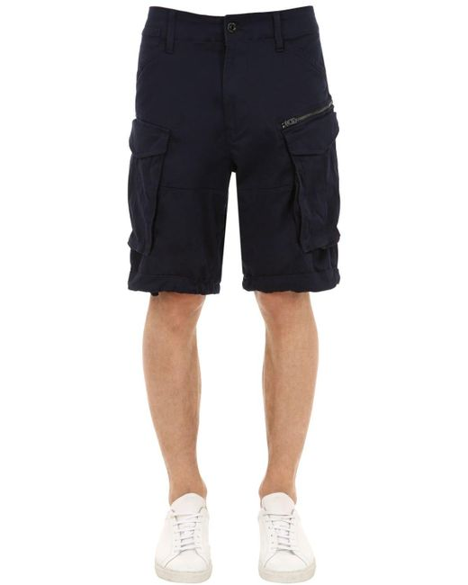 "G-Star RAW - Multicolor Shorts Cargo ""rovic"" De Sarga De Algodón for Men - Lyst"