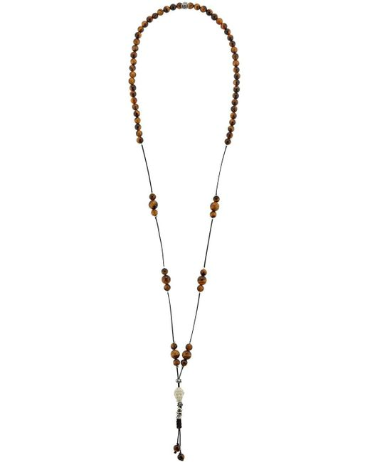 Cantini Mc Firenze | Brown Cromomalas Tiger's Eye Beaded Necklace | Lyst
