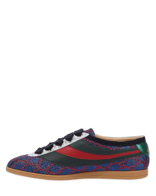 f33078d76 ... Gucci - Blue Competition Gg Lurex Sneakers for Men - Lyst ...