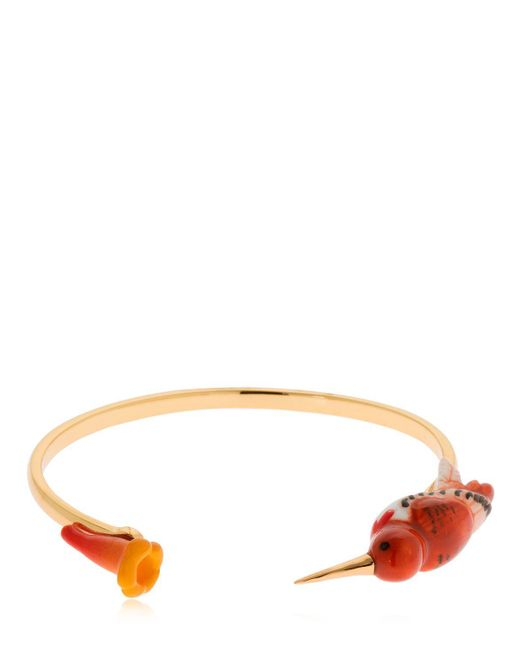 Nach - Pink Humming Bird & Flower Bracelet - Lyst