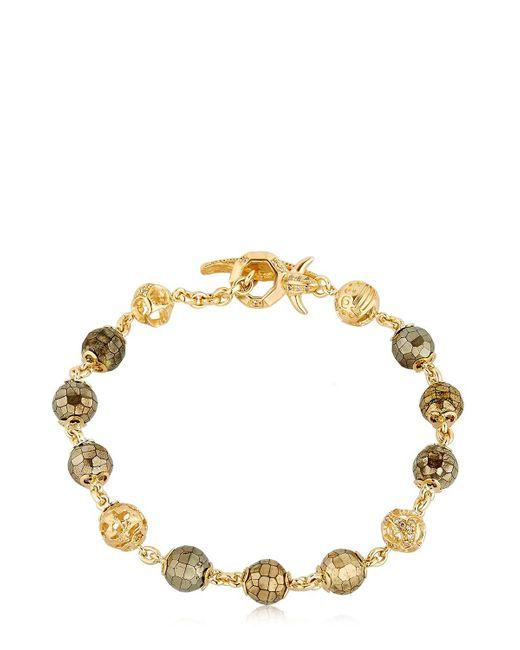 MARCO DAL MASO - Metallic Fu Pyrite Beaded Bracelet - Lyst