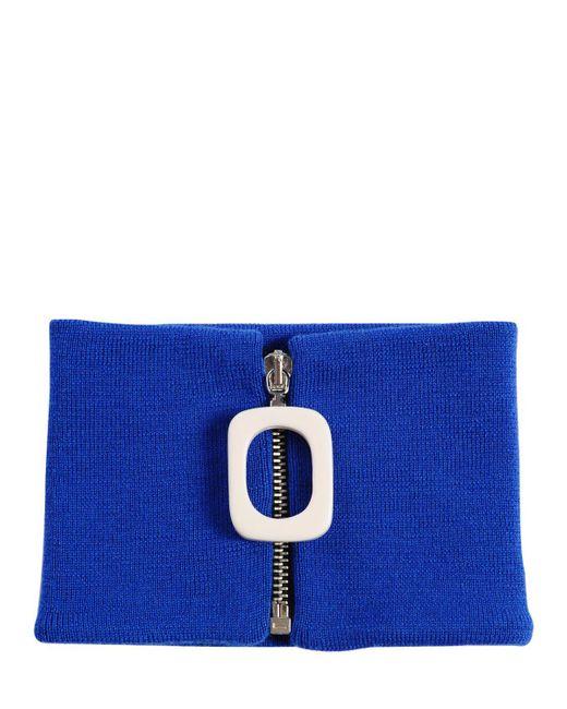 J.W. Anderson - Blue Zip Merino Wool Knit Neckband - Lyst