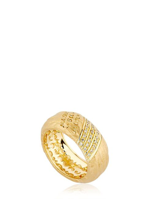 MARCO DAL MASO - Metallic The Other Half Ring With Diamonds - Lyst
