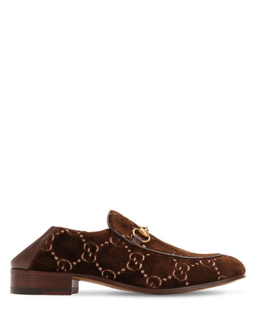 "Gucci - Brown Mocasines ""mister Gg Supreme"" De Terciopelo for Men - Lyst"
