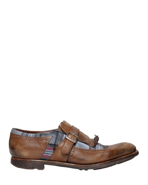 """Church's - Brown Zapatos """"shanghai"""" De Piel Y Ante A Cuadros for Men - Lyst"""