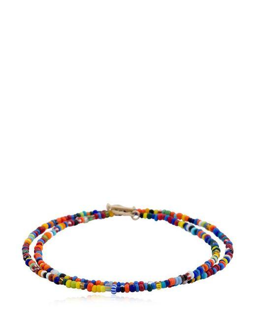 Luis Morais | Multicolor Gold Skull Closure Beaded Bracelet | Lyst