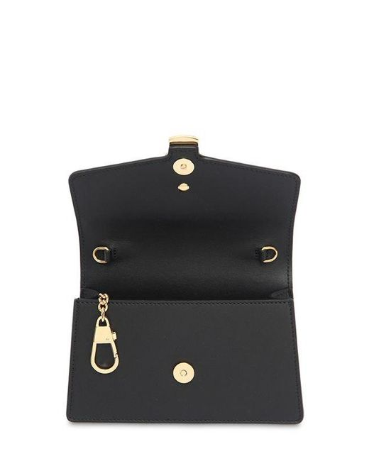 d7835ffd730 Lyst - Gucci Sylvie Leather Mini Chain Bag in Black - Save 9%