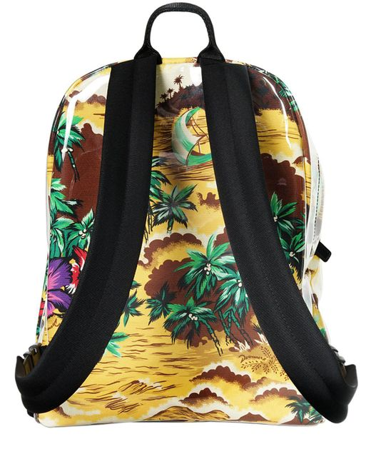 Dsquared2 PLASTIC COVERED PRINTED CANVAS BACKPACK uZfpC
