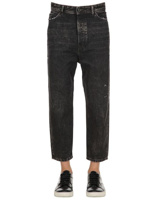 Diesel Black Gold - Gray Narrot Fit Washed Distressed Denim Jeans for Men - Lyst