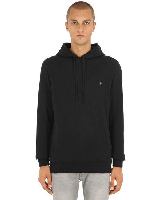 AllSaints - Black Raven Ramskull Sweatshirt Hoodie for Men - Lyst