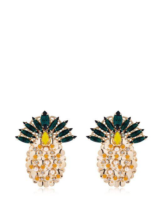 Anton Heunis | Metallic Pandora's Box Pineapple Earrings | Lyst