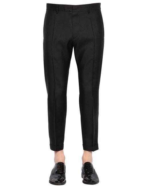 DSquared² - Black 17.5cm Admiral Virgin Wool & Silk Pants for Men - Lyst