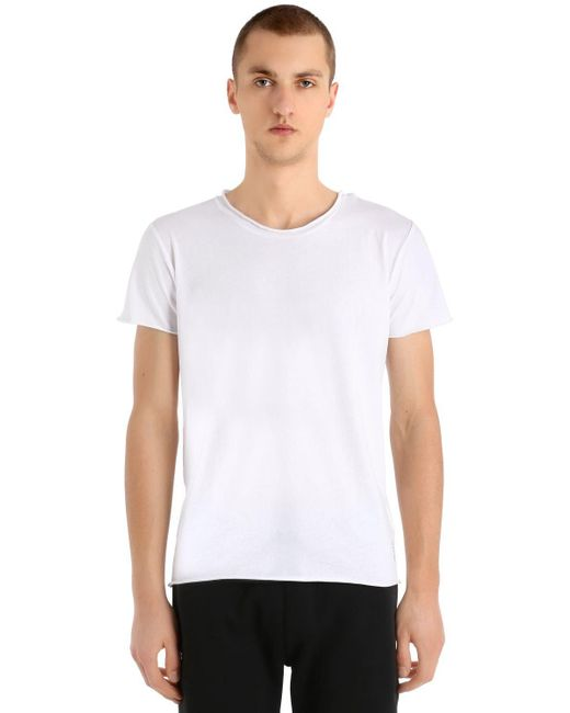 Calvin Klein - White Logo Detail Light Cotton Jersey T-shirt for Men - Lyst