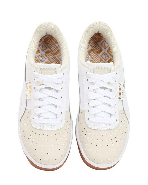 eae7a701098 ... Puma Select - White California Exotic Leather Sneakers - Lyst ...