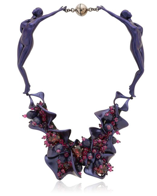 Heaven Tanudiredja   Purple Two Bodies Necklace   Lyst