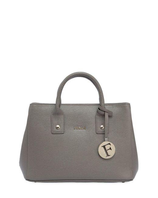 Furla | Gray Mini Linda Saffiano Leather Bag | Lyst