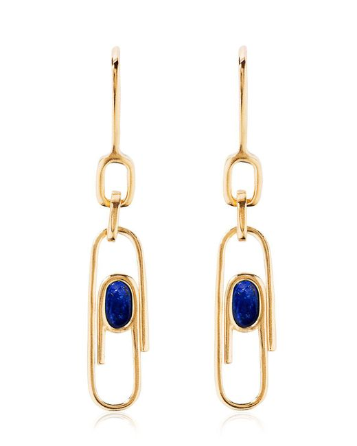 Aurelie Bidermann | Metallic Angelica Lapis Paper Clip Earrings | Lyst