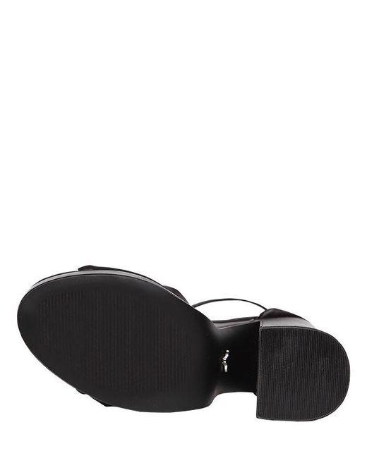 b3116b7b7fa8 ... Windsor Smith - Black 130mm Rosette Satin Platform Sandals - Lyst ...