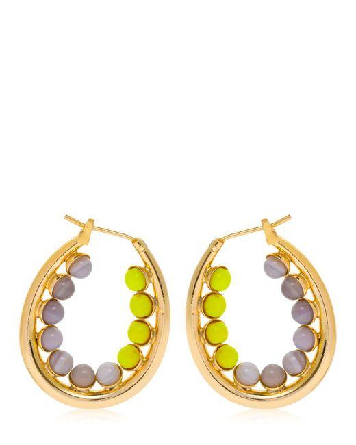 Anton Heunis - Yellow Color Block Oval Hoop Earrings - Lyst