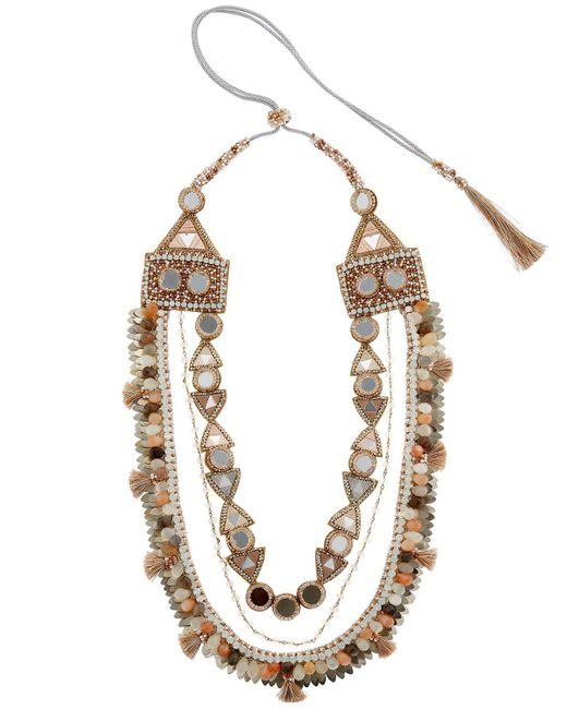 Deepa Gurnani - Metallic Seraphina Necklace - Lyst