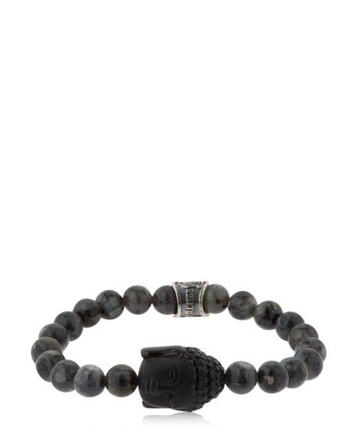 Cantini Mc Firenze - Black Crown Labradorite Beaded Bracelet for Men - Lyst