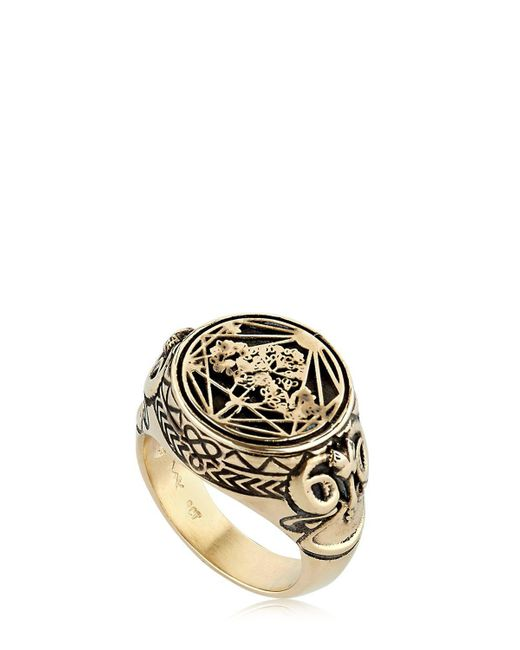 Meadowlark - Metallic Ram Chevalier Ring - Lyst