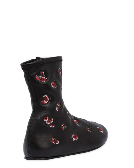 Kenzo MEMENTO STRETCH LEATHER BOOTS soeSR