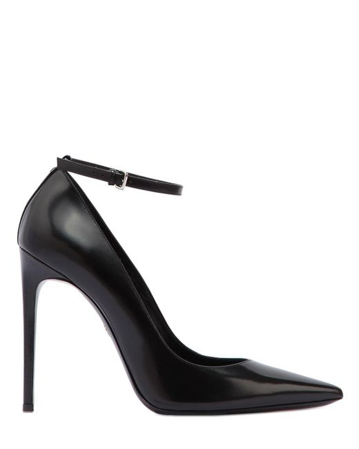 DSquared² - Black 110mm Brushed Leather Ankle Strap Pumps - Lyst