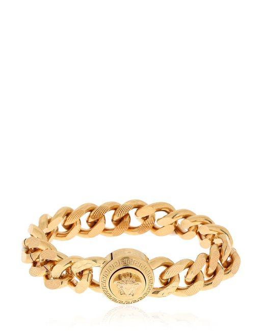 """Bracelet Chaîne Plate """"Medusa"""" Versace pour homme en coloris Metallic"""