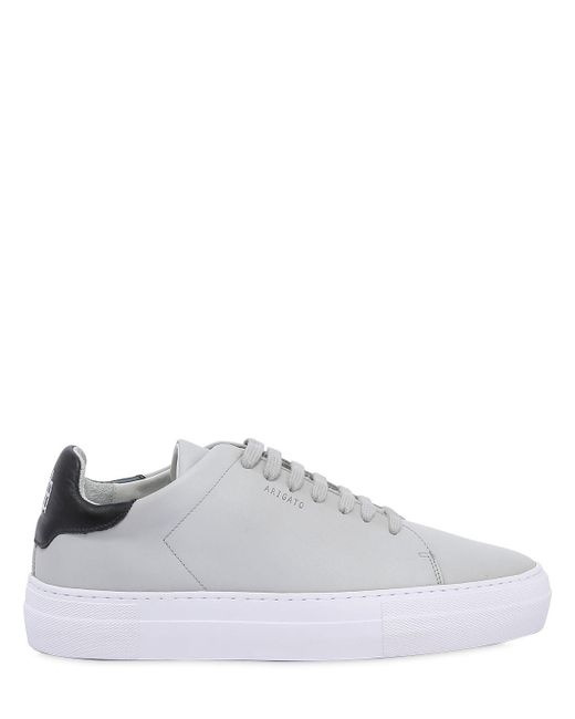 Axel Arigato | Gray Clean 360 Matte Leather Sneakers for Men | Lyst