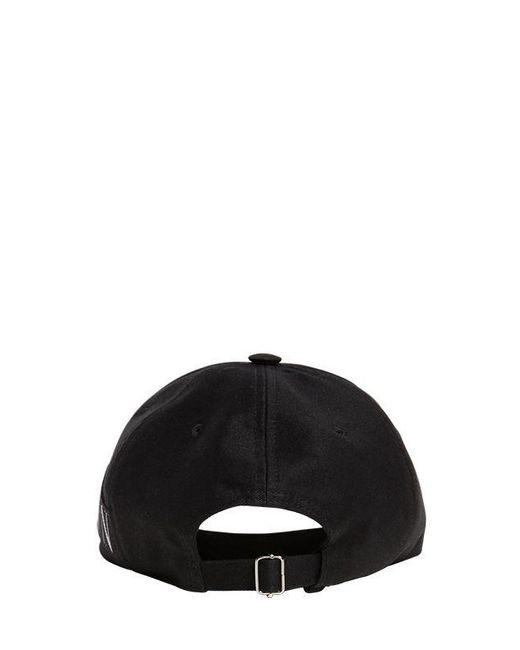 ced753e0042686 ... Valentino - Black Logo Jacquard Cotton Canvas Cap for Men - Lyst ...